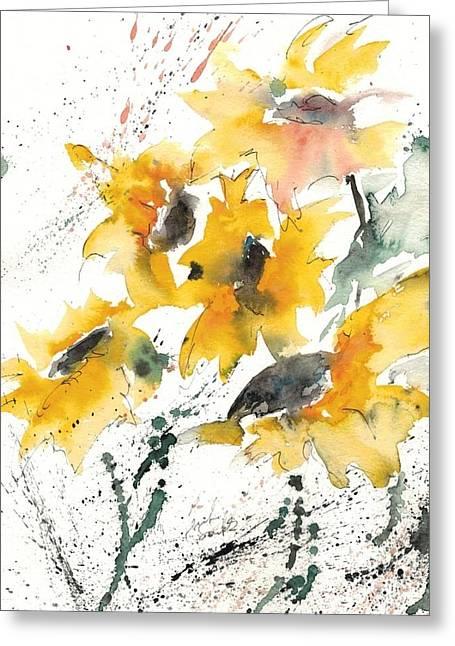 Sunflowers 10 Greeting Card by Ismeta Gruenwald