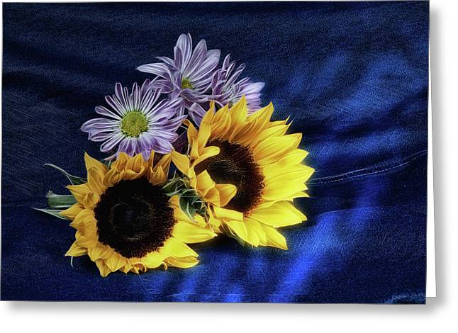 Sunflowers And Daisies Greeting Card by Tom Mc Nemar