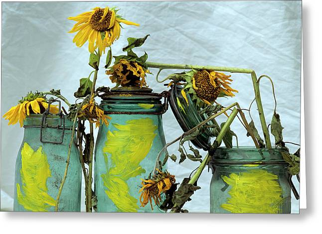 Inboard Greeting Cards - Sunflowers Greeting Card by Bernard Jaubert