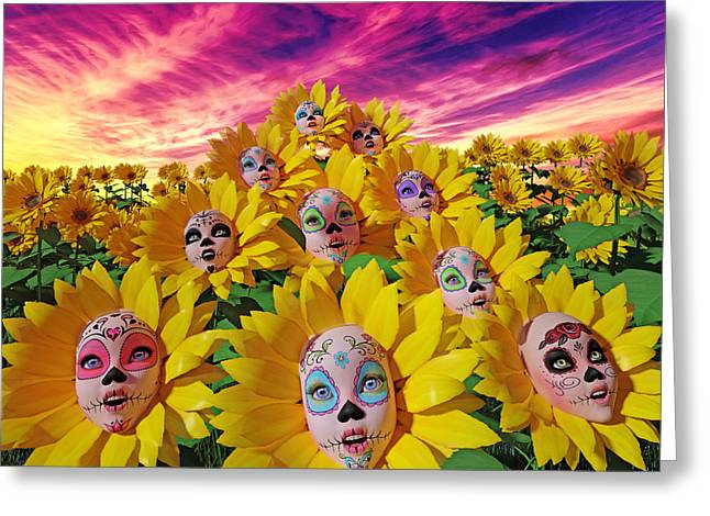 Sunflowers Greeting Card by Betsy Knapp