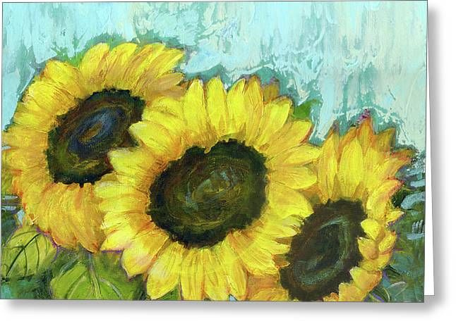 Sunflowers Greeting Card by Blenda Studio