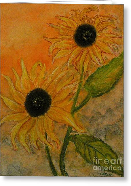 Best Sellers -  - Stein Greeting Cards - Sunflowers Greeting Card by Carla Stein