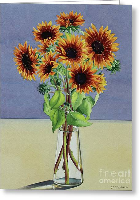 Sunflowers Greeting Card by Christopher Ryland