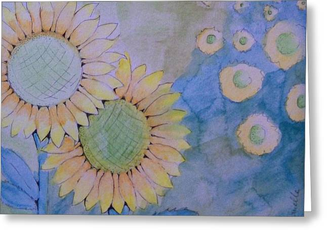 Sunflowers Greeting Card by Donielle Boal