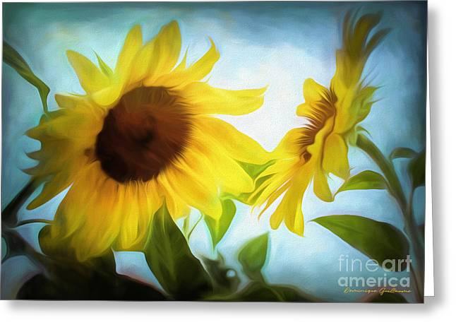 Sunflowers Duet Greeting Card