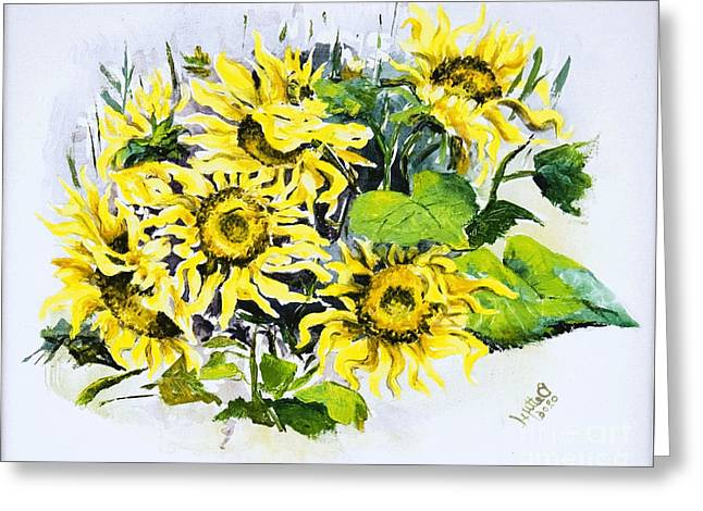 Sunflowers Greeting Card by Elisabeta Hermann