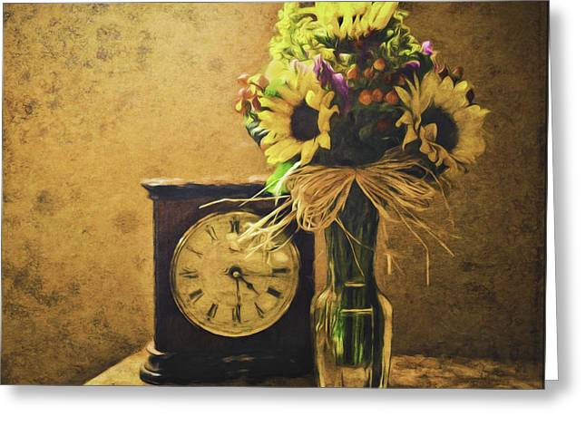 Sunflowers Floral Still Life 3 Greeting Card