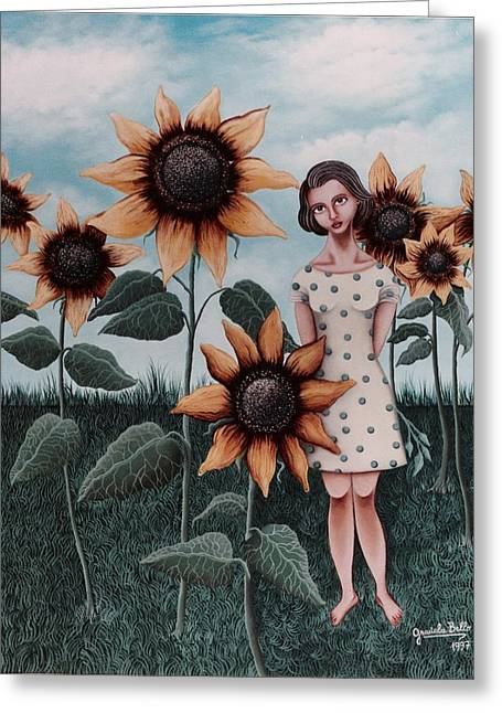 Sunflowers Greeting Card by Graciela Bello
