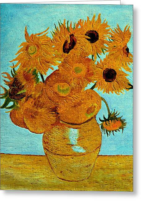 Sunflowers Greeting Card by Henryk Gorecki