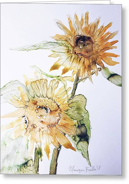Sunflowers II Uncropped Greeting Card