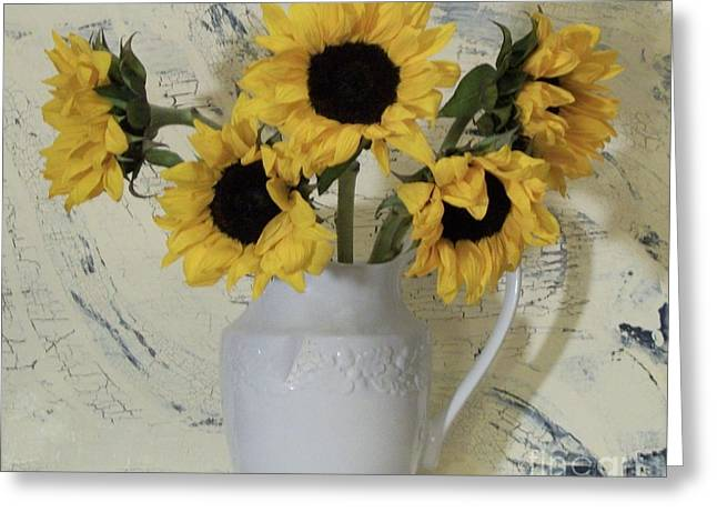 Sunflowers In The Country Greeting Card