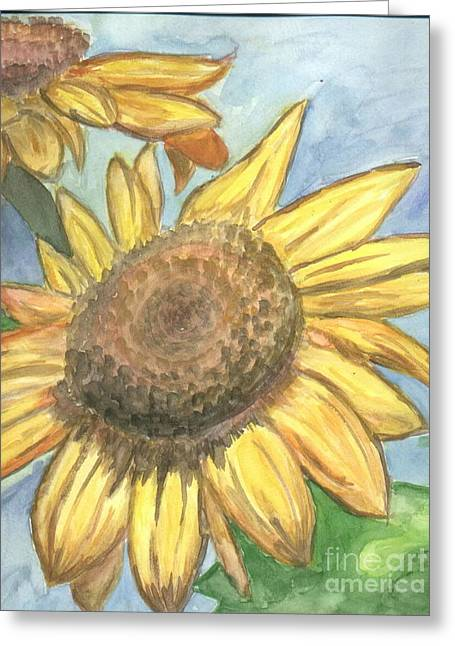 Greeting Card featuring the painting Sunflowers by Jacqueline Athmann