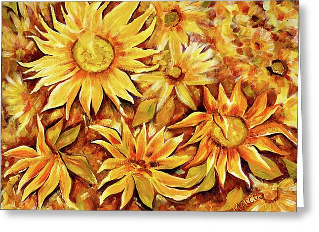 Sunflowers Greeting Card by Leslie Marcus