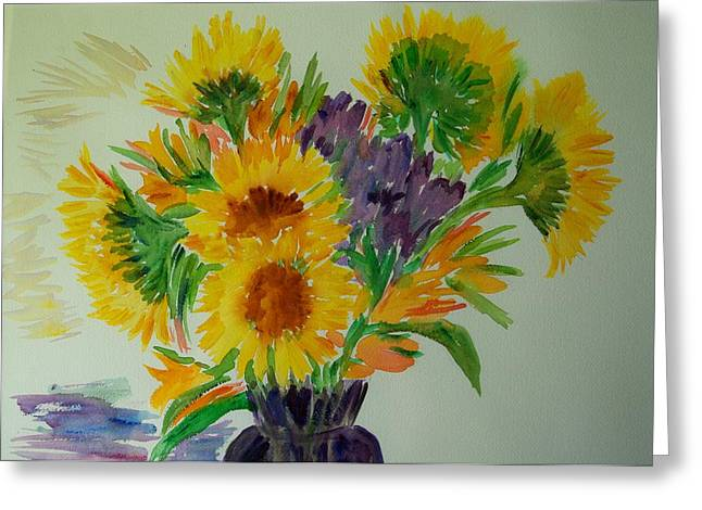 Sunflowers Greeting Card by Liliana Andrei