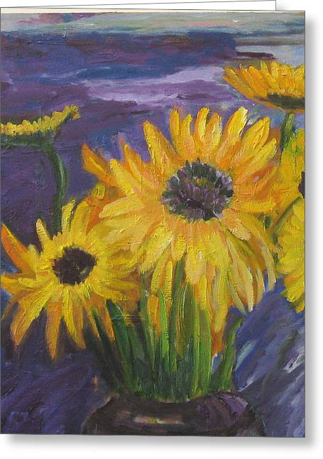 Sunflowers Of My Mind Greeting Card