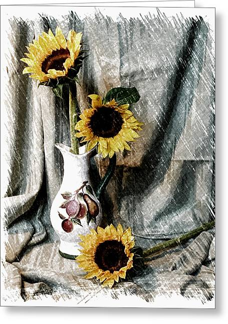 Sunflowers Greeting Card by Pat Exum