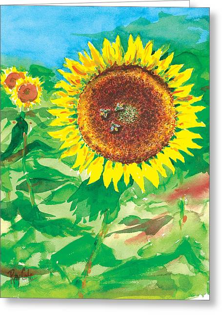 Sunflowers Greeting Card by Ray Cole