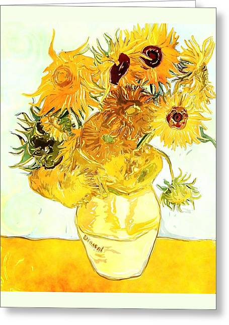 Sunflowers - Van Gogh Greeting Card