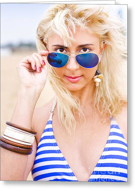 Sunglasses Greeting Card by Jorgo Photography - Wall Art Gallery