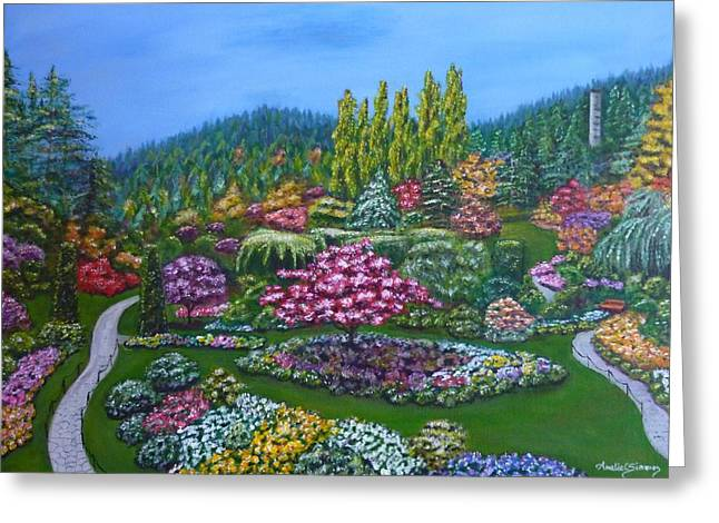 Sunken Garden Greeting Card