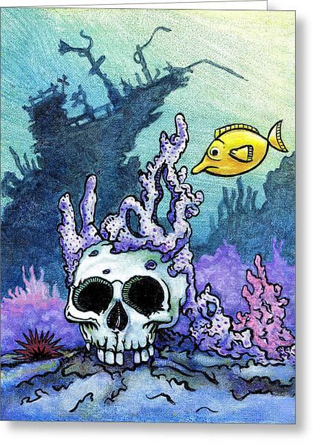 Sunken Head  Greeting Card by Jacob Medina
