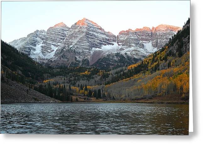 First Light Greeting Card by Eric Glaser