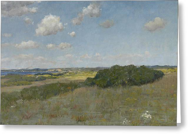 Sunlight And Shadow, Shinnecock Hills Greeting Card by William Merritt Chase