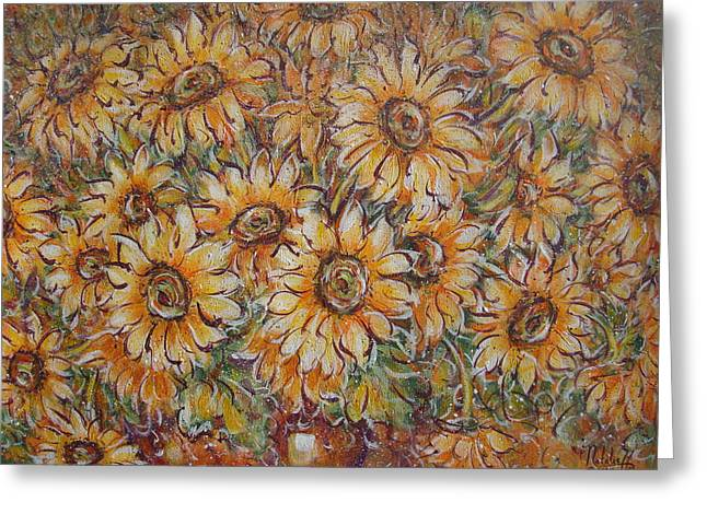 Greeting Card featuring the painting Sunlight Bouquet. by Natalie Holland