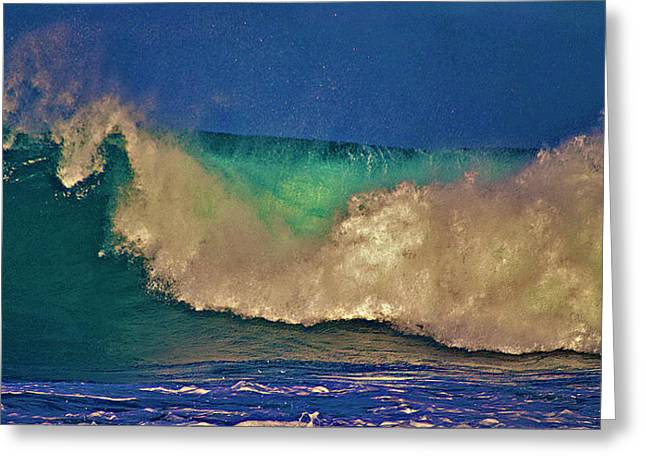 Sunlight On Breaking Wave Greeting Card