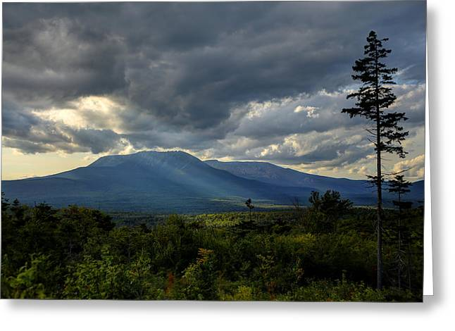 Sunlight On Katahdin Greeting Card