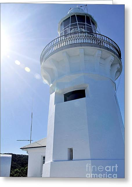 Sunlight On Lighthouse Greeting Card