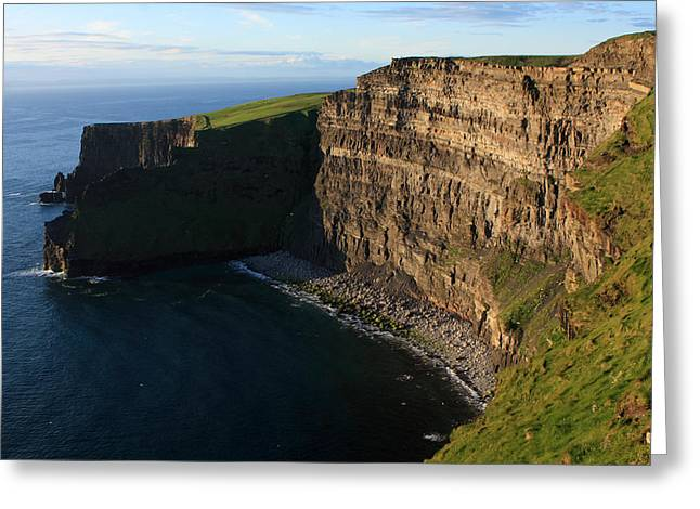 Sunlight On The Cliffs Greeting Card