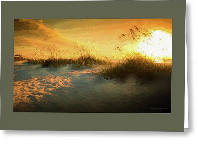 Sunlight On The Dunes Greeting Card