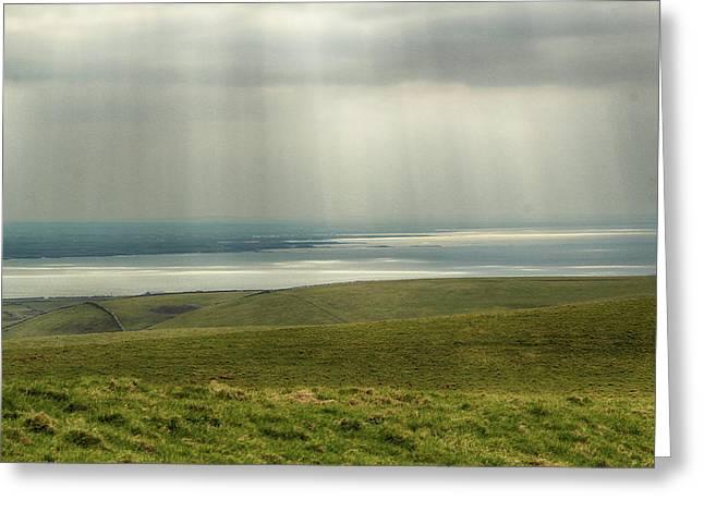 Sunlight On The Irish Coast Greeting Card