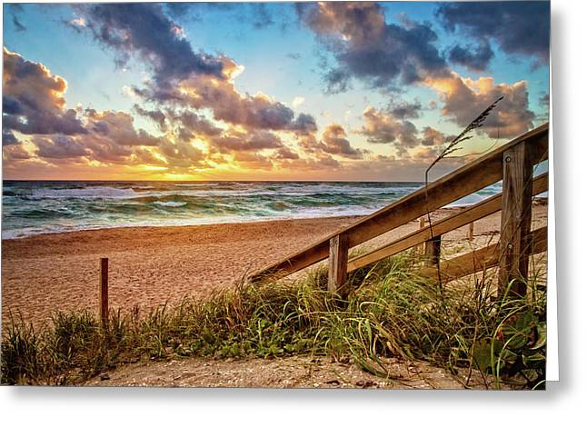 Greeting Card featuring the photograph Sunlight On The Sand by Debra and Dave Vanderlaan