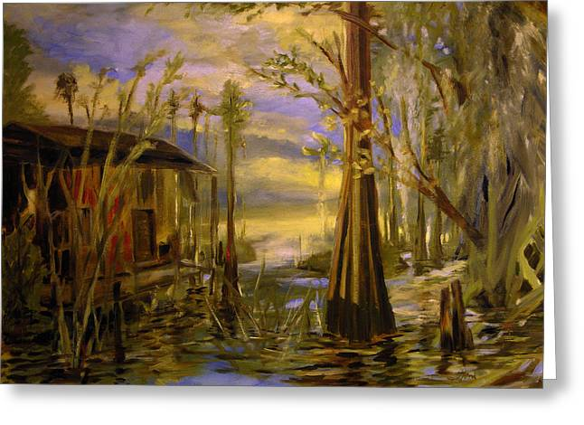 Sunlight On The Swamp Greeting Card