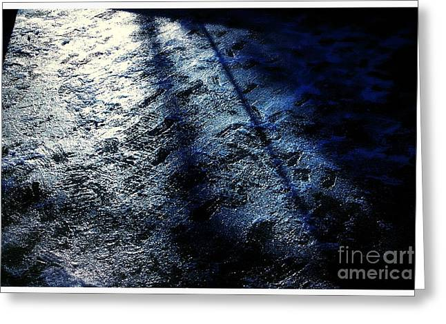 Sunlight Shadows On Ice - Abstract Greeting Card
