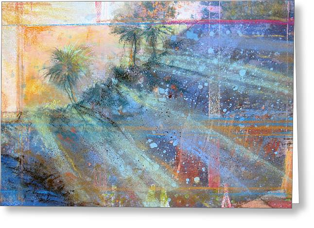 Greeting Card featuring the painting Sunlight Streaks by Andrew King