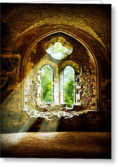 Sunlight Through The Ruins Greeting Card