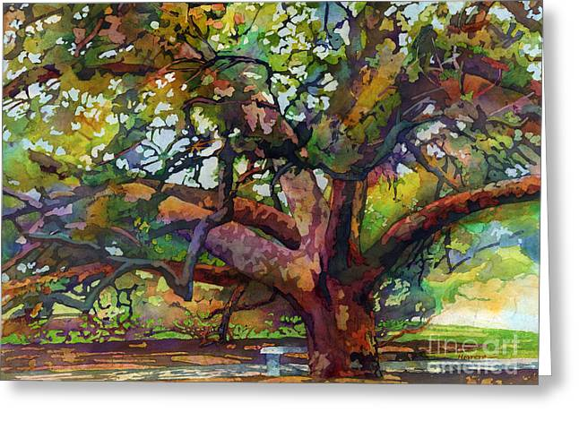 Sunlit Century Tree Greeting Card