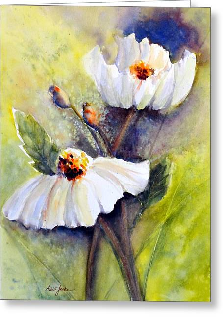 Sunlit Faces - Matilija Poppies Greeting Card