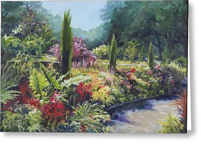 Sunlit Garden Greeting Card