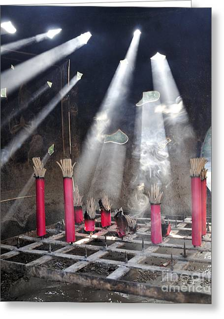 Sunlit Incense Greeting Card