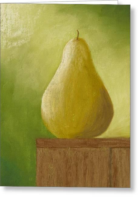 Sunlit Pear Greeting Card