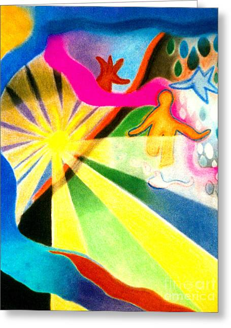 Sunlit Runner Greeting Card
