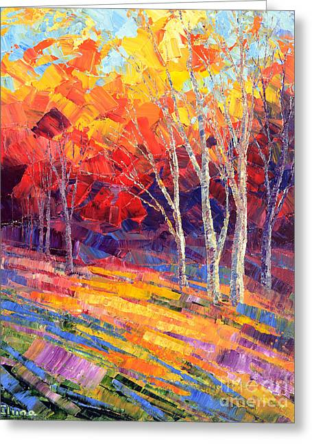 Sunlit Shadows Greeting Card
