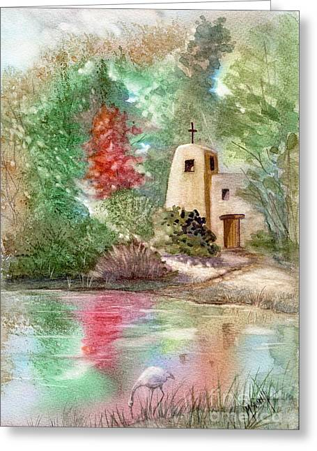 Sunlit Solitude Greeting Card by Marilyn Smith