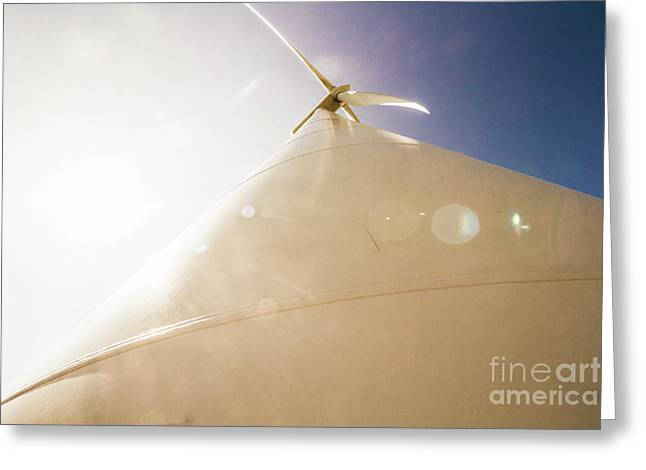Sunlit Wind Power Greeting Card