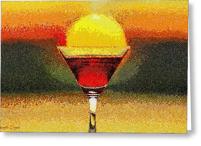 Sunned Wine - Pa Greeting Card