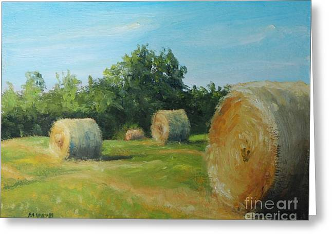 Sunner Harvest Greeting Card by Mike Yazel